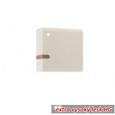 Visiaca skrinka, biela extra vysoký lesk HG/dub sonoma tmavý truflový, LYNATET TYP 65