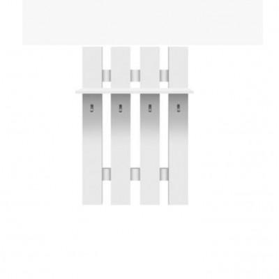 Vešiaková stena, biela, TOPTY 17