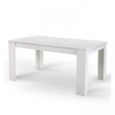 Jedálenský stôl, biela, 140, TOMY NEW