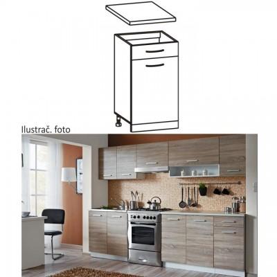 Skrinka do kuchyne, dolná, dub sonoma/biela, CYRA NEW D1S-40
