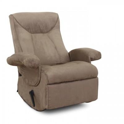 Relaxačné kreslo, s elektrickou funkciou vibrovania, sivohnedá látka, SUAREZ