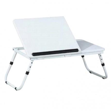 Stolík na notebook/držiak na tablet, biela, EVALD