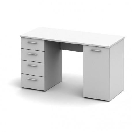 Písací stôl, biela, EUSTACH