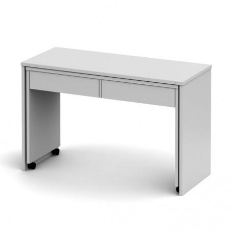 Rozkladací PC stôl so šuplíkmi, biela, VERSAL NEW