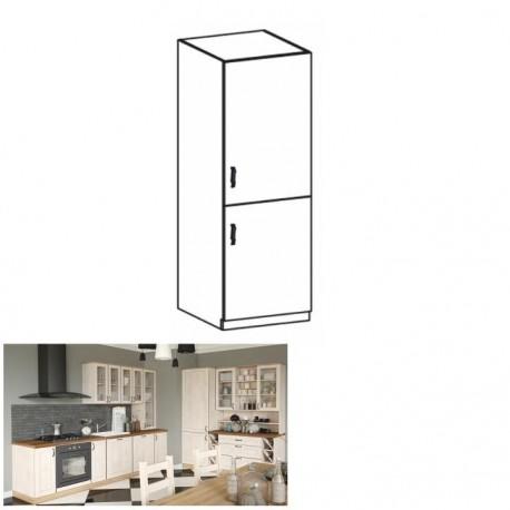 Vysoká skrinka, biela/sosna nordická, pravá, ROYAL D60R