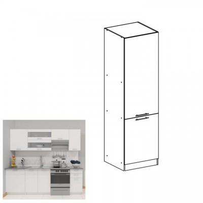 Potravinová skrinka, biela, ľavá, FABIANA S60/210