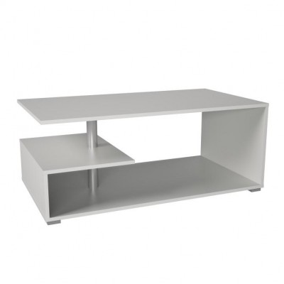 Konferenčný stolík, biela, DORISA