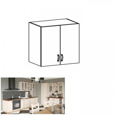 Horná skrinka, biela/sosna nordická, ROYAL G80