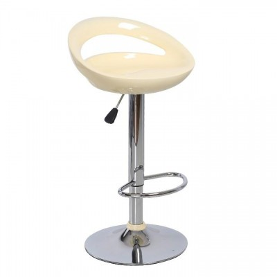 Barová stolička, béžová/chróm, DONGO NOVE