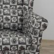 Kreslo ušiak, látka patchwork N1, CHARLOT