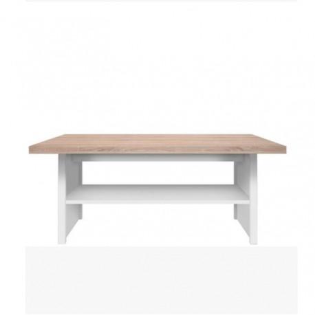 Konferenčný stolík 115, biela/dub sonoma, TOPTY TYP 18