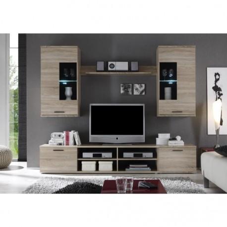 Obývacia stena, dub sonoma, FRONTAL 2