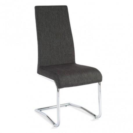 Jedálenská stolička, látka tmavosivá/chróm, AMINA
