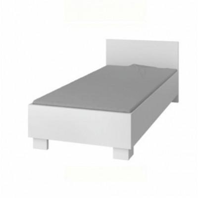 Posteľ 90/200, DTD laminovaná + ABS hrany, biela, SVEND