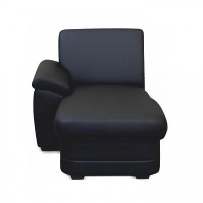 Otoman, ekokoža čierna, ľavá, BITER OTT 1B L