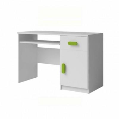 PC stôl, DTD laminovaná + ABS hrany, biela, SVEND