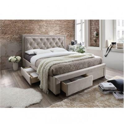Manželská posteľ, sivohnedá, 180x200, OREA