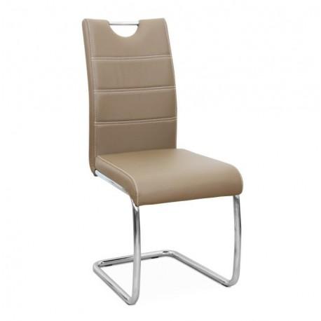Jedálenská stolička, capuccino/svetlé šitie, ABIRA NEW