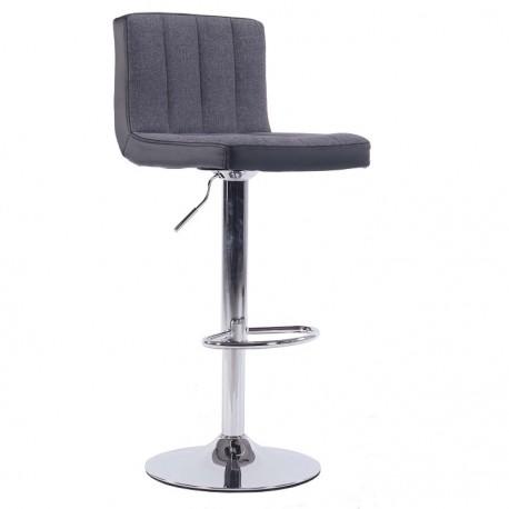 Barová stolička, sivá/čierna, HILDA