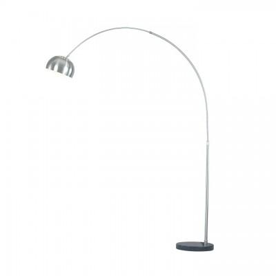 Stojacia lampa, oceľ/čierny mramor, CINDA Typ 16 F1034-M