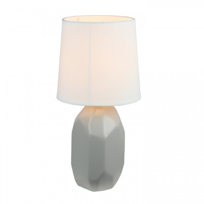 Keramická stolná lampa, sivá, QENNY TYP 2 AT15556