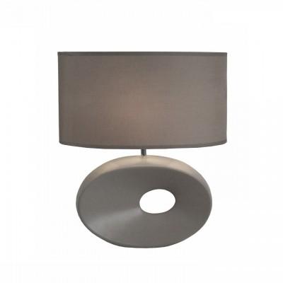 Keramická stolná lampa, sivá, QENNY TYP 11 AT09115
