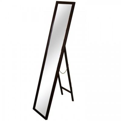 Zrkadlo, drevený rám hnedej farby, MALKIA TYP 4