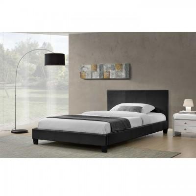 Manželská posteľ, čierna, 160x200, NADIRA