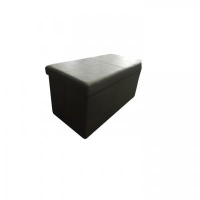 Skladací taburet, hnedá ekokoža, IMRA