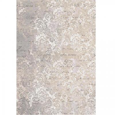 Koberec, béžová so vzorom, 180x270, BALIN