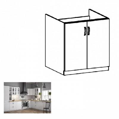 Dolná drezová skrinka D80Z, biela/sosna andersen, PROVANCE