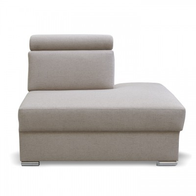 Otoman OTT MINI na objednávku k luxusnej sedacej súprave, béžová, pravý, MARIETA