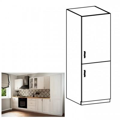 Kuchynská skrinka na vstavanú chladničku D60ZL, pravá, biela/sosna Andersen, SICILIA
