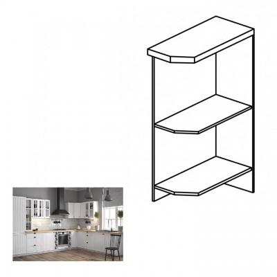 Dolná skrinka s dvomi policami D25PZ, ľavá, biela, PROVANCE