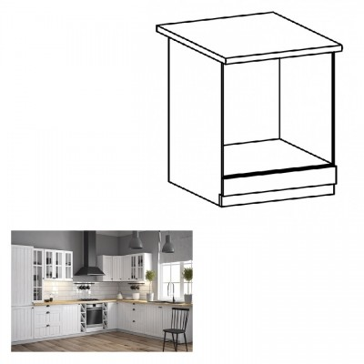 Dolná skrinka na vstavané spotrebiče D60ZK, biela, PROVANCE