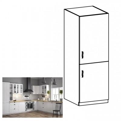 Dolná skrinka na vstavanú chladničku D60ZL, pravá, biela/sosna Andersen, PROVANCE