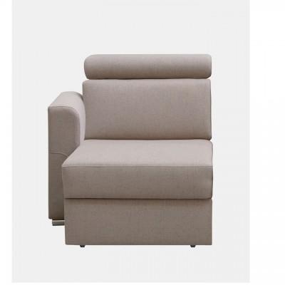 Otoman OTT 1B ZP k luxusnej sedacej súprave, béžová, ľavý, MARIETA