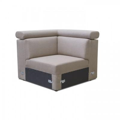 Rohová časť k luxusnej sedacej súprave, béžová, MARIETA
