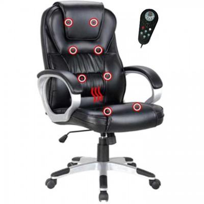 Kancelárske kreslo s funkciou masáže, čierna, TYLER UT-C2652M