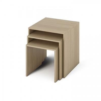 Sada príručných stolíkov, DTD laminovaná/ABS hrany, dub sonoma, SIPANI NEW