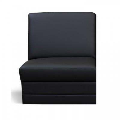 Celočalúnený jednosed, ekokoža čierna, BITER 1 BB na objednávku
