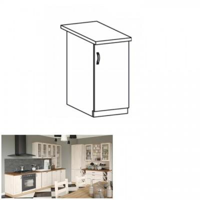 Spodná skrinka, biela/sosna nordická, pravá, ROYAL D30