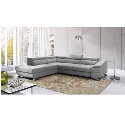 Rohová rozkladacia sedačka, sivá, ľavá, LEGAS