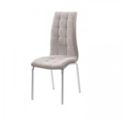 Jedálenská stolička, béžová/chróm, GERDA NEW