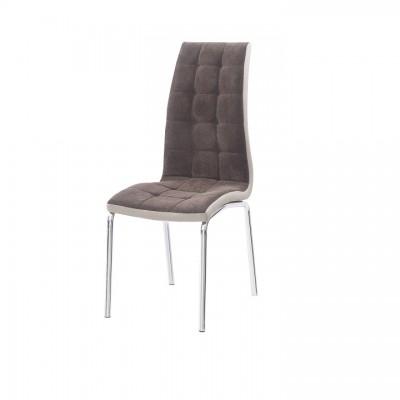 Jedálenská stolička, hnedá/béžová/chróm, GERDA NEW