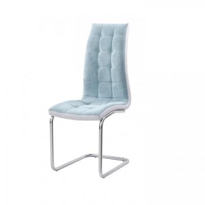 Jedálenská stolička, mentolová/sivá/chróm, SALOMA NEW