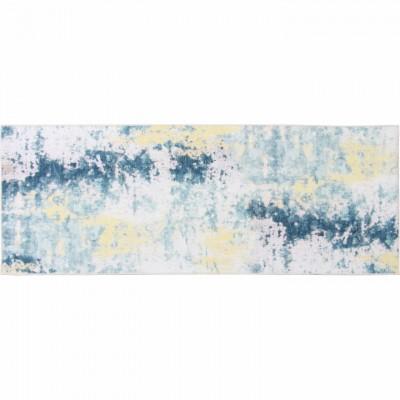 Koberec, modrá/sivá/žltá, 80x200, MARION TYP 1