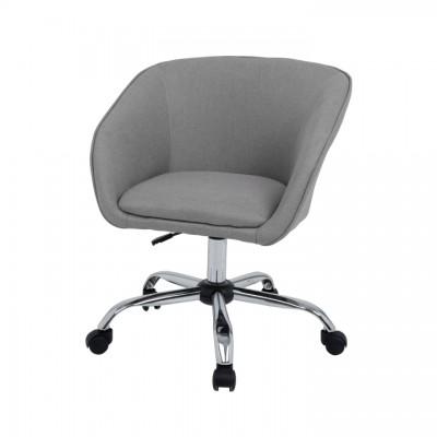 Kancelárske kreslo, sivohnedá látka/kov, LENER