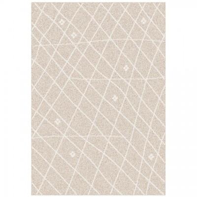 Koberec, béžová/biela, 100x150, TYRON