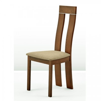 Drevená stolička, buk merlot/Magnolia hnedá látka, DESI